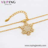 44671 Xuping Fashion 24K Gold Color Scrub Bead Necklace