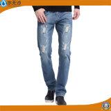Подготавливайте сделанные оптовые джинсыы дешевые джинсыы джинсовой ткани штока цены для людей