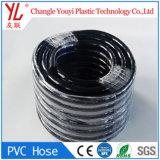 Venda a quente trança preta de plástico de PVC reforçado com a mangueira de ar de gás