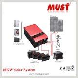 с электрической системы решетки гибридной Solar Energy с заряжателем батареи MPPT и солнечным инвертором для домашней пользы