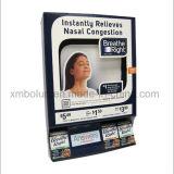 Encimera negra de la máscara que hace publicidad de la visualización para la promoción