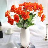 Commerce de gros de la décoration de fleurs artificielles Fleurs de pavot de la soie tactile réel