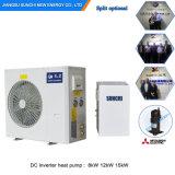 12kw/19kw/35kw/70kw Evi monobloc de chauffage à eau pompe à chaleur atmosphérique