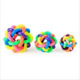 虹カラーペットおもちゃのカスタム無毒なシリコーン犬ペットゴムおもちゃ