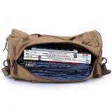 人の旅行方法週末の荷物のキャンバスのダッフルバッグ