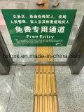 Segurança cegos reciclado ladrilhos de borracha de tijolos para pedestres