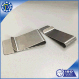 Baratos exclusivas Fancy de acero de fibra de carbono Money Clip con diseño del logotipo del cliente