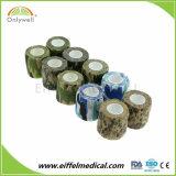 Fasciatura coesiva elastica leggera del camuffamento medico autoadesivo
