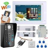 """7"""" TFT WiFi / Connexion sans fil câblé IP Video système intercom de téléphone de la porte avec verrou électrique de grève"""