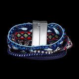 De met de hand gemaakte Gevlechte Magnetische Kunstmatige Juwelen van de Armband van de Greep Multilayer