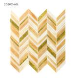 Colorear el azulejo de mosaico de la pared de cristal del oro para la decoración casera