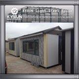 Estructura de acero prefabricada que construye la casa modular para las oficinas temporales
