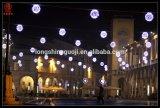El LED a través del adorno de la calle ilumina la iluminación para el alumbrado público de Diwali