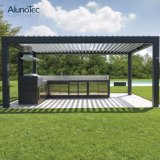 Pérgola Louvered del jardín del metal al aire libre de Horizental con talla modificada para requisitos particulares