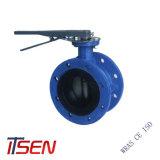 DIN/ANSI/API/ASTM/fundición de hierro dúctil Doble brida Válvula de mariposa concéntricos final para la palanca/Wormgear/eléctrica/Penumatic/neumático/motorizado