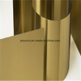 Film PVC 316L 1.4404 Champagne plaque en acier inoxydable revêtu d'or