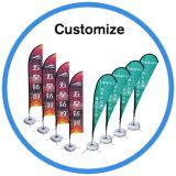 Custom Flex Teardrop Bannière de la forme de plumes Beach Flag Pole