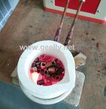 水晶るつぼによって金の銀製に溶けることのための超高速の小型IGBTの誘導加熱の溶ける炉