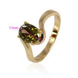 11093 Goldfarbe überzogener Schmucksache-Ring des Form-heiße Verkaufs-14k