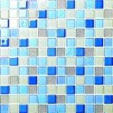 Мозаика кристаллический стекла цвета горячего сбывания смешанная для цены плавательного бассеина в толщине