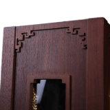 赤いシャンペンのワインボックスを包む排他的な木の堅いギフト