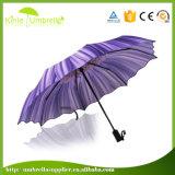 Automático abrir e guarda-chuva próximo da dobra da impressão de PONTO 3 da borda do laço