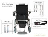 La FDA 12 avancent le fauteuil roulant électrique sans frottoir noir avec la batterie LiFePO4