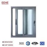 L'alluminio Windows scorrevole della doppia pista residenziale sceglie/doppio vetro lustrato
