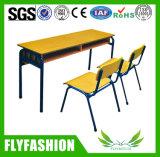 Duas horas de aula ajustável de madeira e cadeiras para sala de estudo