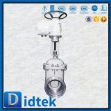 Запорная заслонка нержавеющей стали Didtek API6d/Ce CF8m электрическая