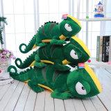 動物の世界のあるプラシ天のトカゲのプラシ天の枕