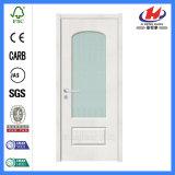 Porta de vidro de madeira Tempered do aço interior branco (JHK-G07)