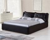 حديثة غرفة نوم أثاث لازم جلد تخزين سرير