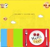 FDA Silicone RubberPlacemat voor Jonge geitjes, het Dineren van het Silicone Mat