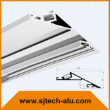 """Aluminium-LED-Profil mit Flansch vertiefte in 5/8 """" Trockenmauer mit geradem Verbinder"""