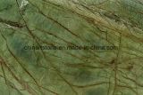 性質の石造りの大理石の建築材料のタイル(雨林の緑)