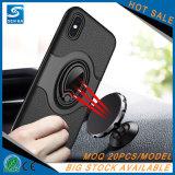 プラスiPhone 7のためのリングのホールダーの携帯電話の箱と磁気革
