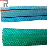 Tous colorent la fibre flexible tressée renforcent le boyau en plastique de l'eau de jardin de PVC