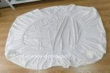 Tampa de confeção de malhas do protetor do colchão da tela do jacquard de bambu da fibra impermeável