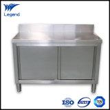 Les armoires de cuisine commercial en acier inoxydable avec de gros travaux haut de page