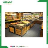 Cremalheira vegetal da fruta do supermercado de madeira