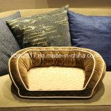 大きい犬のベッドペットベッドの羊毛の工場OEMペット製品贅沢なペットソファーのメモリ泡犬のベッド