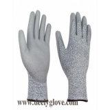 Серый Hppe вырезать перчатки уровня 5