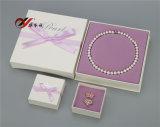 Weißbuch-Perlen-Halsketten-Kasten-Ring-Kasten