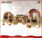 Type malléable galvanisé a de clip de câble métallique de dispositif de fixation