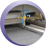 Corte auto del laser de la tela del paño de la posición y máquina de grabado