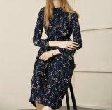 2017 alineadas largas del suéter del resorte de la funda de las mujeres