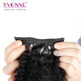 Yvonne Hot Sale vierge Afro brésilien Kinky Curly clip dans l'extension de cheveux humains