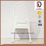 백색 색깔 둥근 뒤 가죽 착석 연회 의자