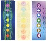 Estera de encargo de la yoga del caucho natural de la impresión del diseño de Chakra